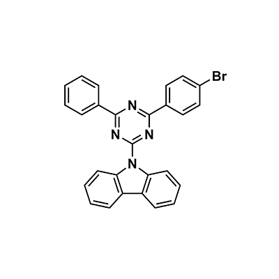 9-(4-(4-Bromophenyl)-6-phenyl-1,3,5-triazin-2-yl)-9H-carbazole